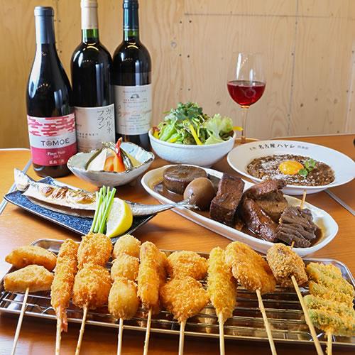 日本のワインと味噌おでん 凡才